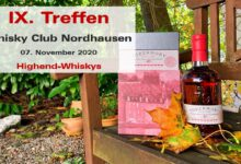 "9. Whisky-Tasting des Whisky Club Nordhausen ""Highend-Whiskys"""